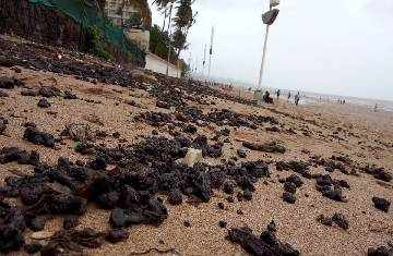 Whose fault is the Pollution from tarballs in Mumbai?